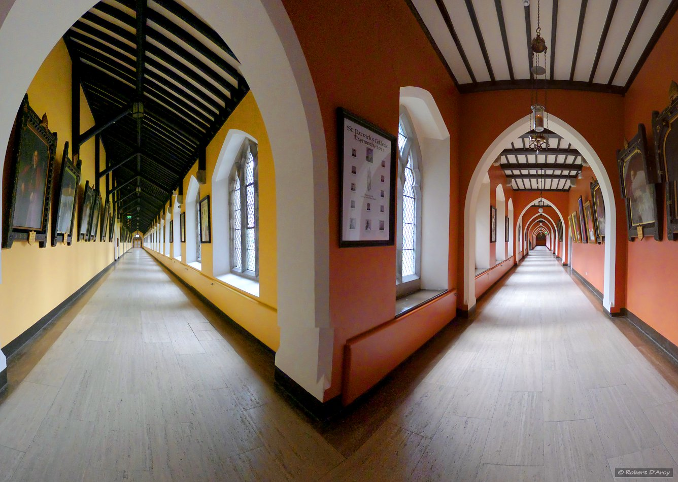 The corridors of St. Patrick's House - cylindrical projection