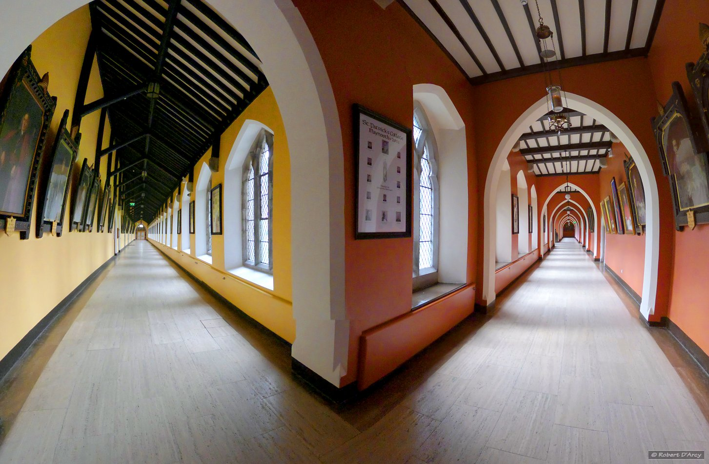 The corridors of St. Patrick's House - stereographic projection