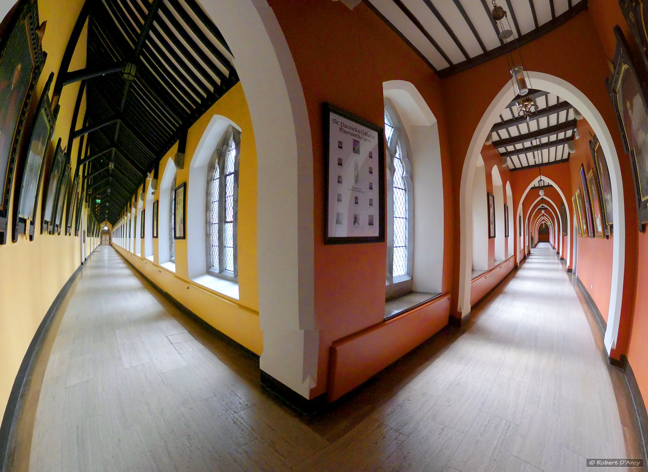The corridors of St. Patrick's House - transverse spherical projection