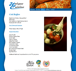 Cold buffets page
